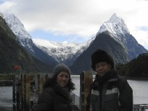 Waiting to board our cruise, Milford Sound