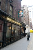 Sherlock Holmes Pub, we didn't know it was iconic till we saw it on a postcard.