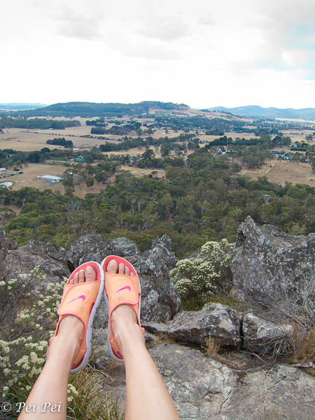lovely view from the top of Hanging Rock